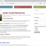 Kidney stone prevention website